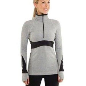 Lululemon Full Tilt Run 1/2 Zip Pullover Gray 6